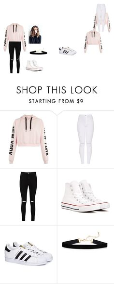 """""""Untitled #4"""" by millinder on Polyvore featuring Boohoo, Converse and adidas"""
