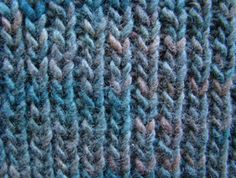 Rib Stitch: Row 1: Knit 1, Purl 1 across Row 2: Knit into knitted stitches, Purl into purled stitches Repeat
