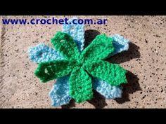 Flor en tejido crochet tutorial paso a paso. Nº 2. - YouTube