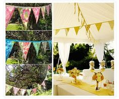 Opulent Couturier Wedding Style & Planning Blog: Whimsical Bride - Pennants & Garland