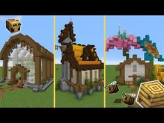 5 Build Ideas for your Minecraft world! Minecraft Banner Designs, Minecraft Banners, Minecraft Decorations, All Minecraft, Minecraft Blueprints, Minecraft Creations, Minecraft Memes, Minecraft Architecture, Minecraft Buildings