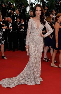 Andie MacDowell in Ralph & Russo Couture at The Sea Of Trees premiere, Cannes 2015