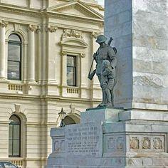 The moving Oamaru Cenotaph, New Zealand