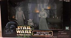 Star Wars Power of the Force Cinema Scenes Jedi Spirits with Anakin Yoda  Obiwan Kenobi Action Figures By Hasbro -- Click image for more details.