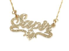 With the increasing demand for unique designed customized necklace, there are many jeweler makers retailing them.  Persjewel offers variety of personalized jewelries and one latest and very fashionable piece is the 18k gold plated lower heart name necklace cuts.