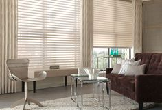 #SheerShades are elegant and classy and offer a touch of romance when paired with flowing drapery panels.
