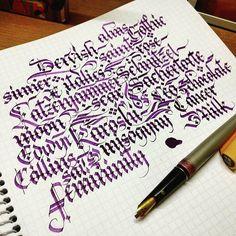 Practice. Getting used to my new nibs.#calligraphy #calligraphyart #calligraffiti #detailing #TYxCA #flourishing #lettering #typegang #typespot #handstyle #thefinesttype #typematters #artoftype #instagramaddicts #instapopular #instagood #instafamous #instalove #instagrammers #igers #igdaily #igaddicts #instabeautiful #instatype #typespire