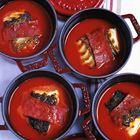 Kabeljauw met chorizo en paprika.