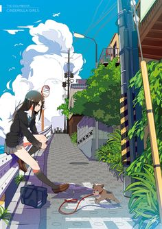 shibuya rin is the idol of the characters in anime Idolmaster Cinderella.