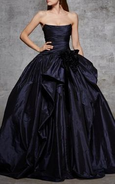 Strapless Taffeta Gown by Marchesa