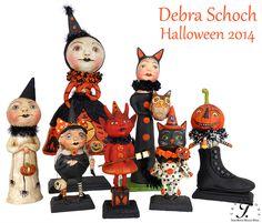 Debra Schoch's folk art figures for Halloween 2014!