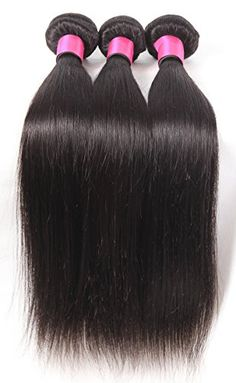 DFX Hair TM 830 inches Brazilian Virgin Human Hair Extension Silky Straight Pack of Three 100gBundle 6A Natural Color Weft 20 22 24 ** Find out more about the great product at the image link-affiliate link. #BeautySalonEquipment