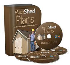 RyanShedPlans - Shed Plans with Woodworking Designs - Shed Blueprints, Garden Outdoor Sheds — RyanShedPlans Wood Shed Plans, Shed Building Plans, Diy Shed Plans, Storage Shed Plans, Diy Storage, Outdoor Storage, Backyard Storage, Porch Plans, Cabin Plans
