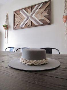 Macrame Art, Macrame Knots, Macrame Headband, Beaded Hat Bands, Diy Hat, Wooden Earrings, Hat Making, Handmade Baby, Wooden Beads