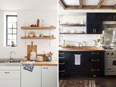 Cubiertas de madera en la cocina