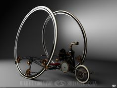 Mikhail Smolyanov's Steam Engine Motorcycle Concepts Are Fantastic