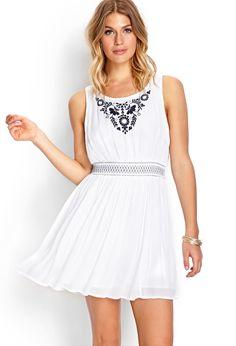 Whimsical Embroidered Dress   FOREVER21 #SummerForever