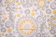 4 Yards Premier Prints Suzani Drapery Fabric in Wisteria