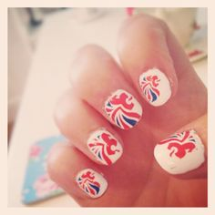 Nails ready for tomorrow's visit to the Olympic Stadium! EXCITED! #paralympics2012 #paralympicsgb #nails