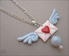 Pendant Love letter by AnielClayWorks.deviantart.com on @deviantART