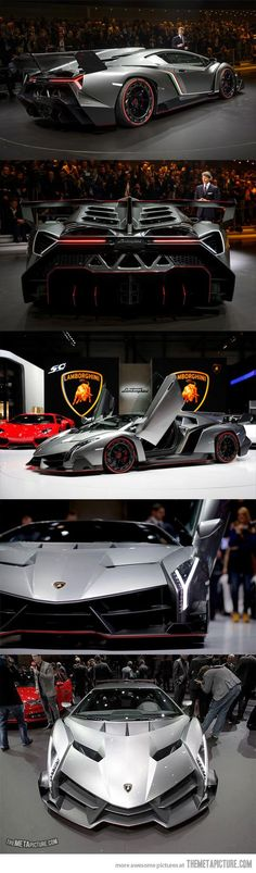 Lamborghini Veneno, only 3 were made in the world… it looks like a monster! :O