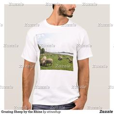 Grazing Sheep by the Rhine T-Shirt Smoky Mountain National Park, White Shop, Tshirt Colors, Colorful Shirts, Shirt Style, Fitness Models, Long Sleeve Shirts, National Parks, Shirt Designs