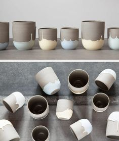 Celine Fafard Of Parceline Has Created A Collection Of Stoneware With Unique Drip Patterns - - Celine Fafard, the owner and creator of Parceline, has designed a collection of modern ceramics from her studio in Montreal, Canada.