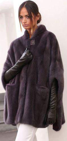 PELZ PELZMANTEL MANTEL NERZ VISONE FUR COAT MINK FOURRURE VISON PELLICCIA норка in Kleidung & Accessoires, Damenmode, Jacken & Mäntel   eBay