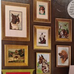 Paint by number dog portraits. Southern Living, May.