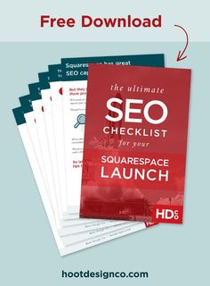 These SEO tips are made for SEO beginners and seasoned veterans alike: Use the free SEO Checklist for Launching Your Squarespace Website download to set your Squarespace website up for SEO marketing success. These SEO tips include help on some tricky-to-s