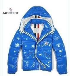Moncler Branson Jacket Light Blue Quilted Zip Men [2900108] - £145.79 :