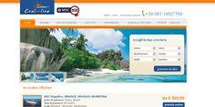 Cralonline - minisito per la vendita delle crociere MSC.  Sito web realizzato da Estensa