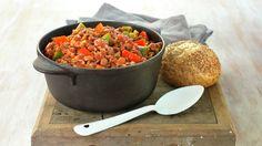 Chili con carne - Rask - Oppskrifter - MatPrat Fin base for chilli