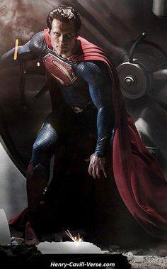 http://www.facebook.com/HenryCavillFans Henry Cavill as Superman Man of Steel, WB Official Movie Image.