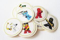 Ninjago Stickers  Set of 24