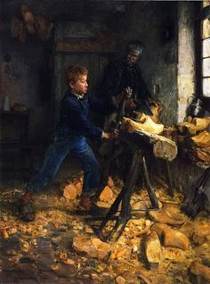 Henry Ossawa Tanner:  The Young Sabot Maker (1895)
