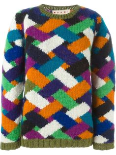 Marni chevron pattern sweater