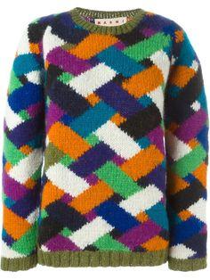 Marni chevron pattern sweater