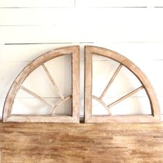 Two Piece Rustic Wood Wall Decor
