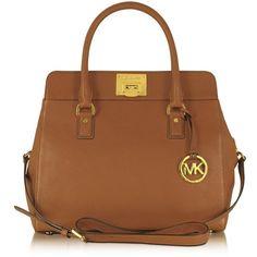Michael Kors Astrid Large Leather Satchel ($360) ❤ liked on Polyvore