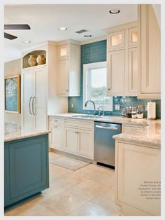 I know with kids this wouldn't be the smartest color scheme but I am so obsessed with this kitchen that I would scrub every inch of it clean twice a day just to have it in my home! <3