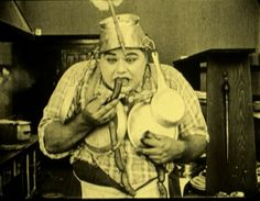 """Roscoe 'Fatty' Arbuckle in """"The Cook"""" (1918)"""