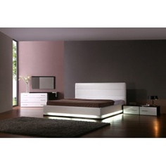 Infinity Contemporary Platform Bed with Lights
