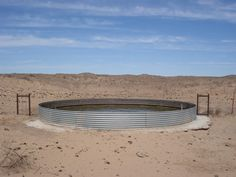 Not a pretty picture, but interesting idea for a pool- a livestock water tank.