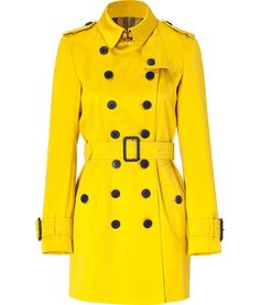 Yellow trench; Burberry