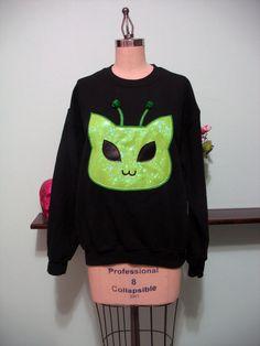 Alien kitty sweatshirt