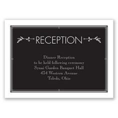 Dancing at Dusk - Reception Card Wedding Reception Cards, Wedding Rsvp, Traditional Wedding Invitations, Vintage Invitations, Davids Bridal, Dusk, Dancing, Dance