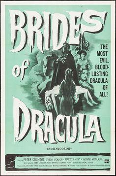 "Brides of Dracula (Universal International, 1960). One Sheet (27"" X 41""). Horror. Starring Peter Cushing, Freda Jackson, Martita Hunt, Yvonne Monlaur, David Peel, Mona Washbourne, Andree Melly, and Stephanie Watts. Directed by Terence Fisher."