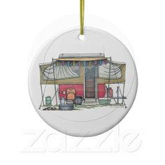 Cute RV Vintage Popup Camper Travel Trailer