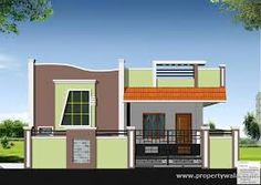 House front elevation single floor new ideas Front Elevation Designs, House Elevation, Building Elevation, Single Floor House Design, Small House Design, Exterior House Colors, Exterior Design, Front Wall Design, Door Design